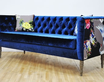 "Loveseat - blues ""3 seater sofa"""