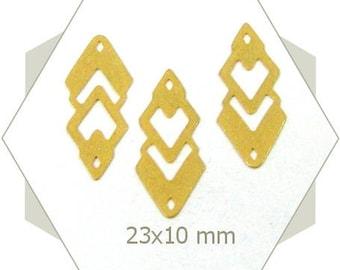 Diamond lace pattern gold matte BG51 8 connectors