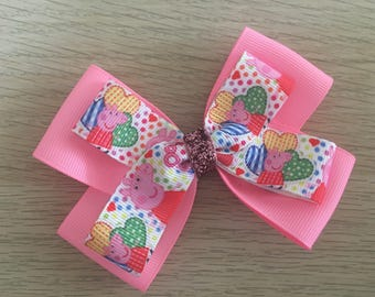 Pink Peppa Pig Bow / Peppa Pig / Peppa Pig Bow