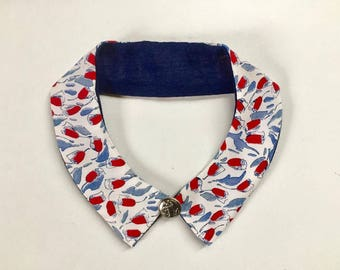 Handmade patterned detachable collar