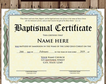Baptism certificate template microsoft word editable baptism certificate template microsoft word editable file printable certificate template instant download yadclub Choice Image
