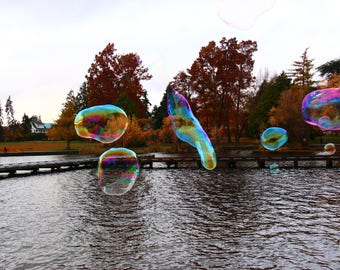 Bubbles over Green Lake