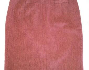 80s Norton McNaughton Womens Wool long Skirt Size 8