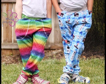 J is for Joggers pattern & tutorial - nb-12yr - Girl or Boy - By LittleKiwisCloset