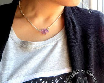 Women's necklace, ametrine stone, violet, wellness, health, Chakra, Crystal, for her,