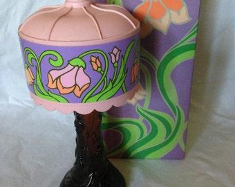 Avon Tiffany Lamp Sonnet Cologne Decanter
