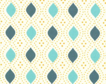 Moda Fabric, Domestic Bliss by Liz Scott for Moda Fabrics, 18077-16 Geometric Beaded Cream Aqua