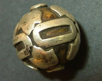 Antique Indian Silver bead, 18 mm .