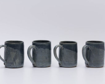 Set of Four Handmade Ceramic Mugs, Unique Gift