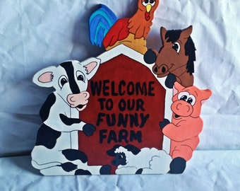 Funny Farm Welcome Signs