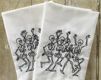 Set of 4 Halloween Cloth Napkins