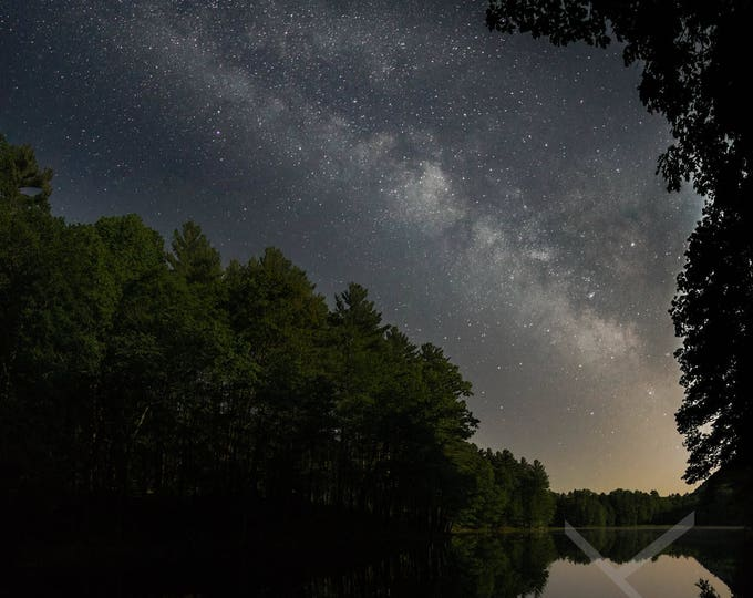 Featured listing image: Summer Solstice Milky Way over Cranberry Pond with Moonlit Pines