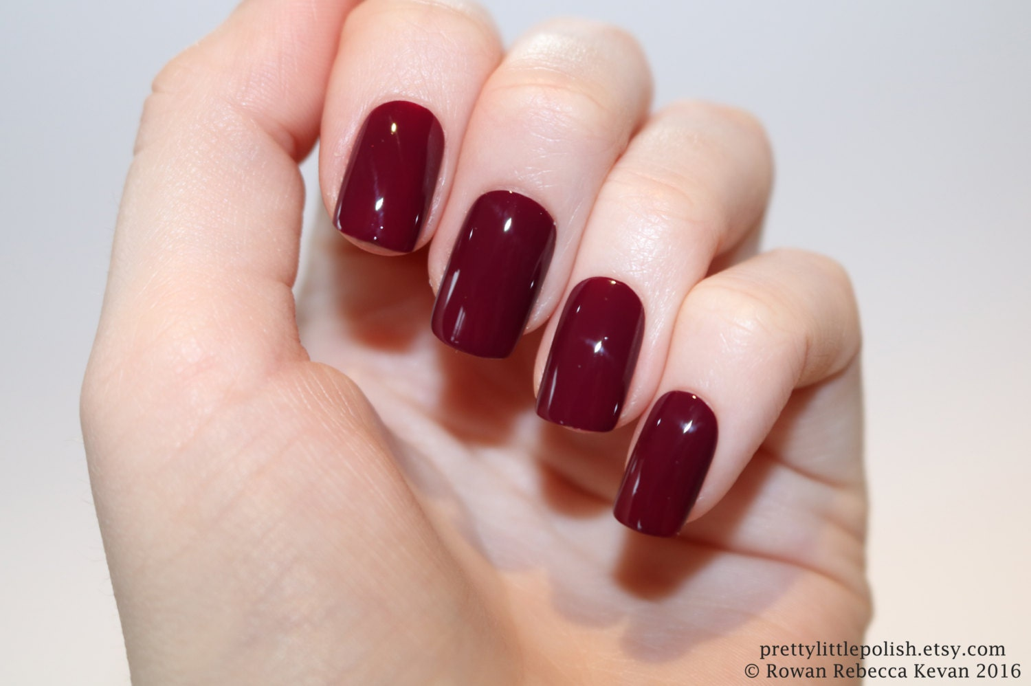 Burgundy short square nails Nail designs Nail art Nails