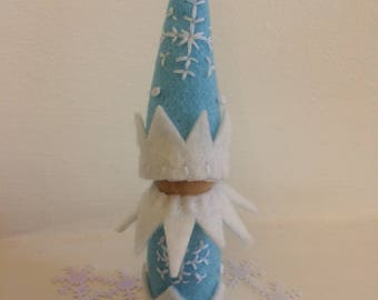 SALE -Jack Frost Winter Peg Doll Gnome