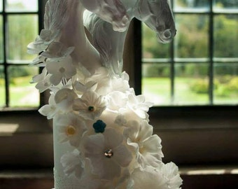 GORGEOUS Wedding Cake Toppers Horses for the Equestrian Bride & Groom