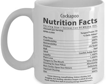Cockapoo Lover Mug. Cockapoo Nutritional Facts. FunnyCockapoo Dog Mug. 11oz 15oz Coffee Mug.