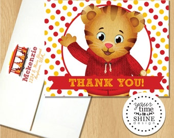 Daniel Tiger - Thank You Folded Notecard - Blank Inside