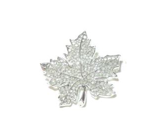 Vintage Sarah Coventry Silvertone Leaf Pin