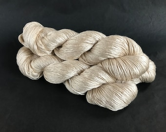 Sea Nymph Silk/SeaCell Yarn. White Horses