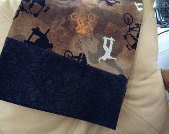 Skateboarding-Cycling Pillowcase-Sports-Black-Brown-Cotton Standard Pillow case