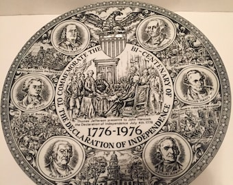 "10"" Declaration of Independence plate"