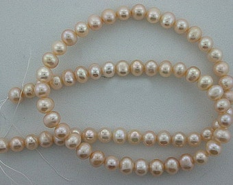 "16"" Strand 6mm - 7mm Rich Creme Freshwater Pearls Natural"