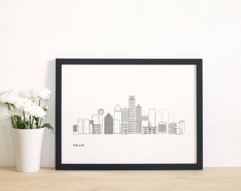Dallas TX, Dallas skyline, downtown Dallas, Dallas Texas, city of Dallas, Dallas map, Dallas skyline art, Dallas wall art, Dallas cityscape