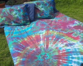 Tie Dye Spiral, Tie Dye Swirl, Tie dye Bedding, Doona Cover Set, Quilt Cover Set, Duvet Cover Set, Cot, Single, Double, Queen, King, Ocean