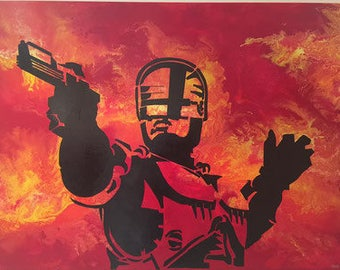 Sylvester Stallone 120x80 Original Painting on Canvas