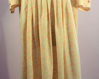 1980s Laura Ashley floral style dress with puff  sleeves REDUCED PRICE due to minor imperfections