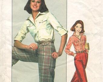 """Juniors' Shirt & Pants– Simplicity 8159 – UNCUT Vintage Sewing Pattern – Size 7 (31"""" Bust)"""