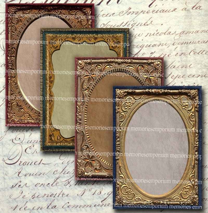 Antique Photo Frames ATC ACEO 2.5 x 3.5 inch Decoupage