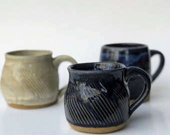 Small Handmade Pottery Mug, Tea Mug, Unique Gift, 8 oz Mug, Pottery Mug, Handmade Mug, Rustic Pottery, Ceramic Mug Earthy Pottery Mug