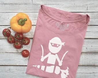 Vegan T shirt for Women | Funny Vegan Shirt | Vegetarian T shirt | Gardening Tshirt | Bamboo Tee | Ninja T-shirt | VEGGIE NINJA