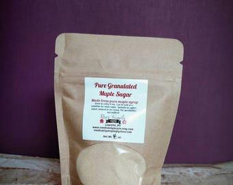 Pure Granulated Maple Sugar, Natural Sweetener, tea Sweetener, coffee Sweetener, all natural sugar substitute, healthy Sweetener