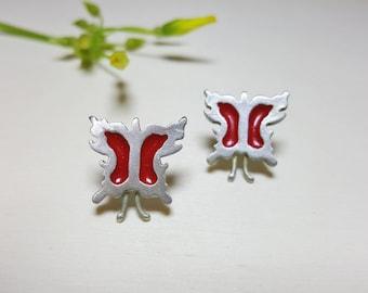 Butterfly Earrings, Small Earrings for Women, Dainty Studs, Romantic Earrings, Cute Post Earrings, Butterfly Jewelry, Romantic Studs