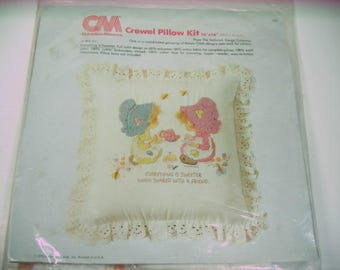 "Crewel Pillow Kit Betsey Clark ""Everything is Sweeter"" Hallmark   (1333)"