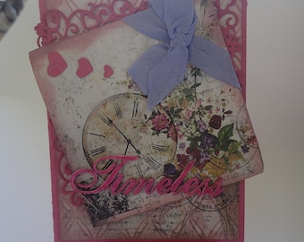 Shabby chic handmade card for a woman