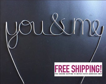 You & Me Wire Cake Topper
