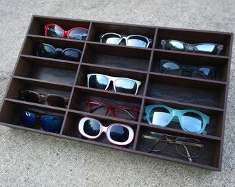 Superbe 15ct Sunglasses Display Sunglasses Organizer Sunglass Storage Rack Stand  Case Box Drawer Eyewear Holder Sunglass Shelf HANDMADE In Tx