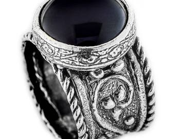 Silver ring,  Black Onyx Ring, Womens silver ring, Unique silver ring, handmade