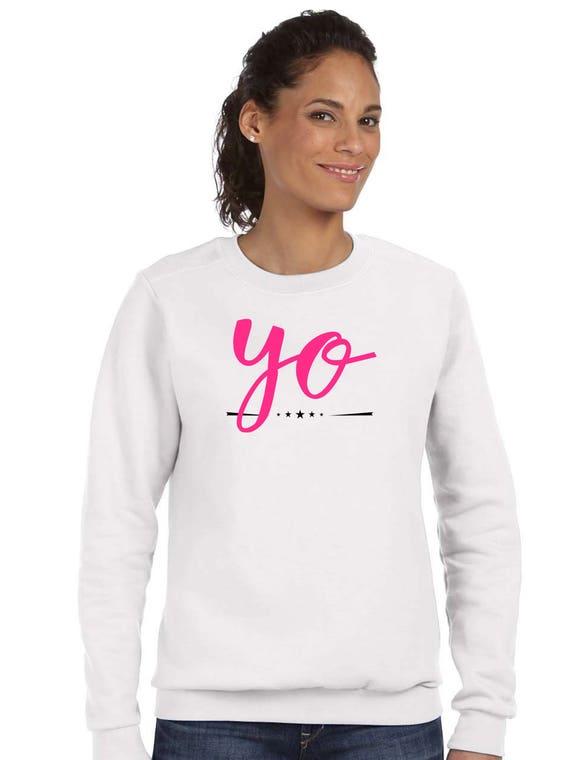 Round neck women sweater YO