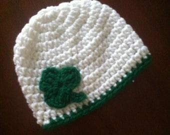 Shamrock Crocheted Hat