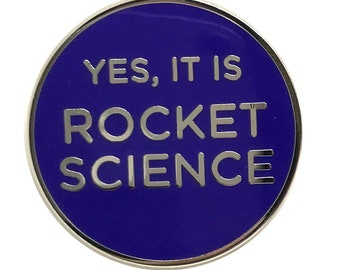 Rocket Science NASA Funny Word Space Lapel pin
