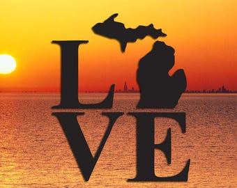Michigan/UP  Love Decal