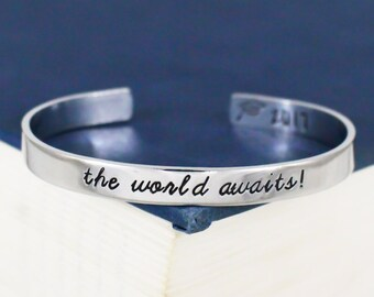 The World Awaits! Bracelet - Graduation Gift - Class of 2018