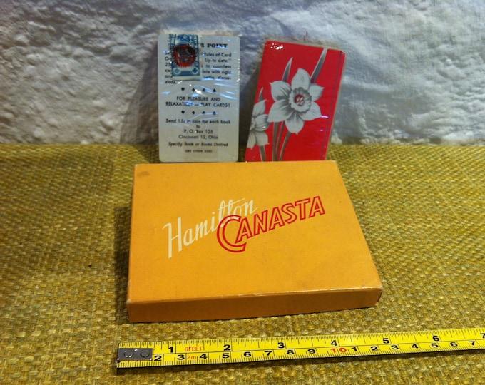 Vintage Hamilton Canasta Cardgame Game Accessoires