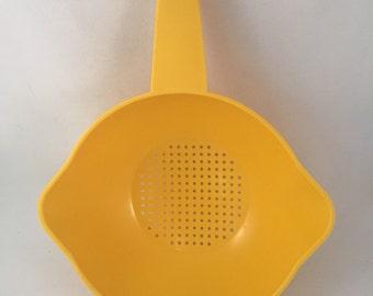 Retro Yellow Tupperware 1 Quart Colander/Strainer
