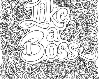 Funny coloring page   Etsy