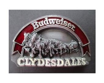Belt Buckle * BUDWEISER CLYDESDALES * 1989